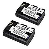 Fosmon [2-Pack] Premium Quality 2600 mAh 7.4V Replacement Li-ion Canon LP-E6 Battery Pack for Canon EOS 5D Mark II, EOS 5D Mark III, EOS 6D, EOS 7D, EOS 60D, EOS 60Da, EOS 70D Digital Cameras