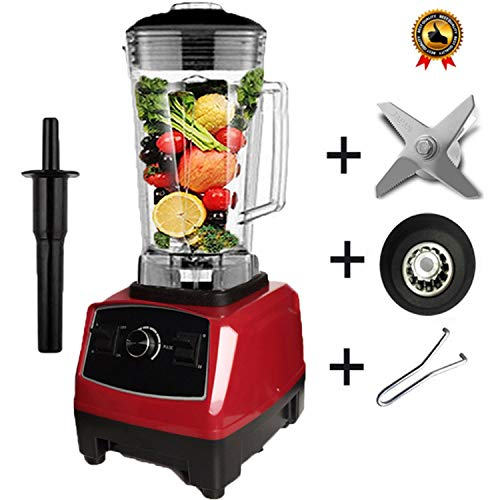 Eu/Us Plug 2200W Commercial Blender Mixer Juicer Power Food Processor Smoothie Bar Fruit Electric Blender,Red Full Parts,China,Eu Plug