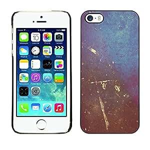 Be Good Phone Accessory // Dura Cáscara cubierta Protectora Caso Carcasa Funda de Protección para Apple Iphone 5 / 5S // Painting Wall Art Scratched Interior Design Shabby
