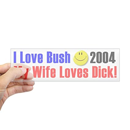 Cafepress funny george w bush sticker 10x3 rectangle bumper sticker
