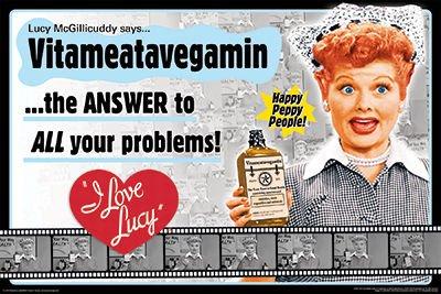 I Love Lucy- Vitameatavegamin Poster 36 x 24in