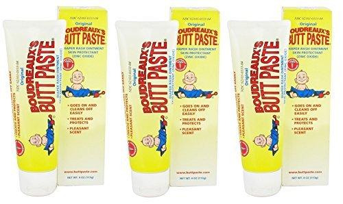 Boudreaux's Butt Paste Diaper Rash Ointment Skin Protectant, 4 Oz (Pack of 3) ()