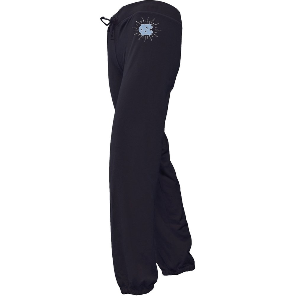 N. Carolina Tar Heels - Foil Logo Girls Juvy Drawstring Sweatpants Dark Blue J7 North Carolina Tar Heels