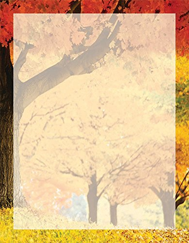"Great Papers! Fall Scene Letterhead, 80 Count, 8.5""x11"" (2014274)"