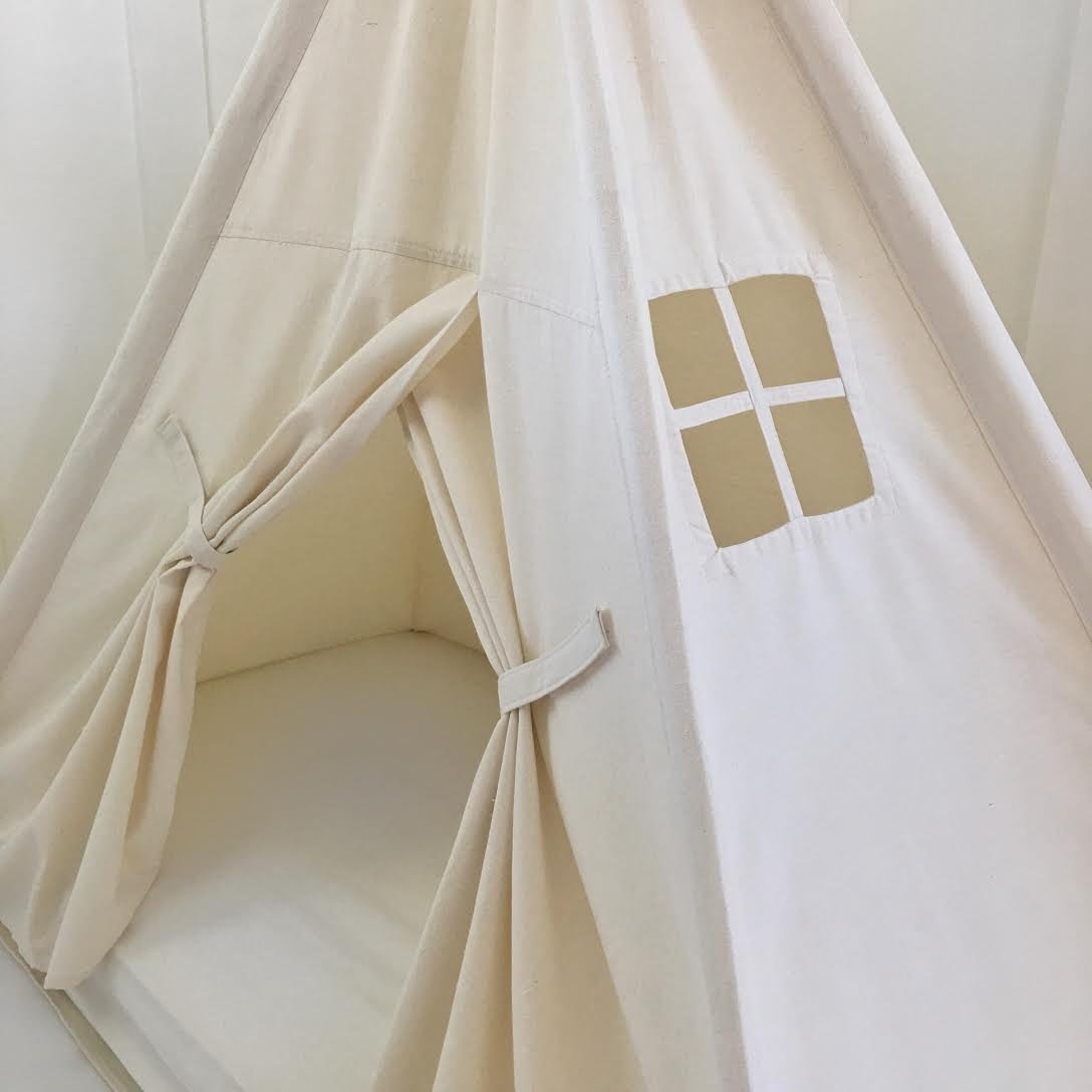 Domestic Objects Handmade Cotton Play Tent Canopy. Great for Toddler Transition to Big Bed - Crib with Doors by Domestic Objects (Image #2)