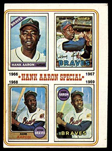 Baseball MLB 1974 Topps #5 Hank Aaron 1966-69 VG/EX Very Good/Excellent Braves