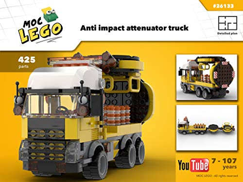 Anti impact attenuator truck (Instruction Only): MOC LEGO por Bryan Paquette