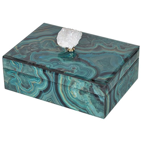 (A&B Home Bethany Marbled Box,Large Mixed Color)