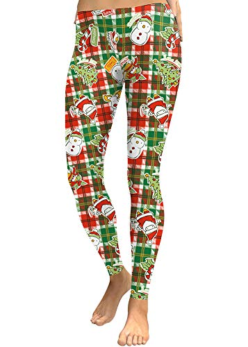 Christmas Women Xmas Stan Funny Graphic Printed Leggings Stretchy Skinny Party Tight Pants XL