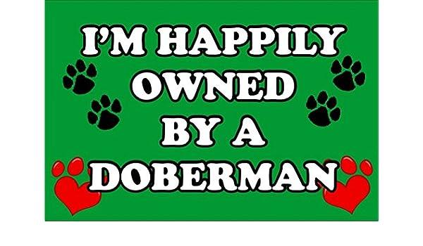 Estoy felizmente propiedad de un Doberman - perro llavero ...
