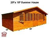 20ft (6m) x 10ft (3m) Summer House Cabin Supreme Cabin Total Sheds