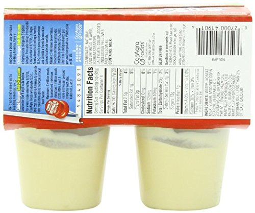 Hunts Snack Pack Vanilla Pudding FRESH (12 Cups Total 39 oz.) 3 Boxes of 4 Cups Each