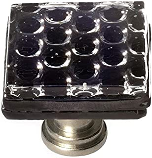 product image for Sietto K-902-SN Texture 1-1/4 Inch Square Cabinet Knob