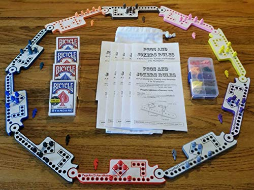 Pegs and Jokers Travel Size Compact Game Set (2-10 Players) (Game Marble The)