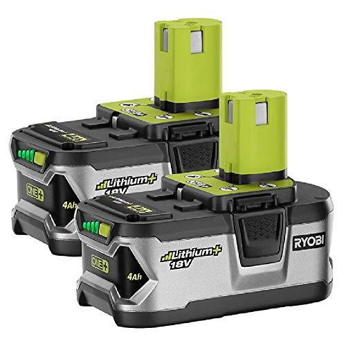 RYOBI P129 18V ONE+ High Capacity 4 0 Ah Battery (2-Pack)