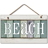 New Weathered Wood Beach Sign Coastal Wall Plaque Decor