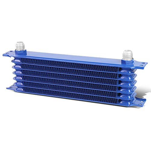 Universal Automotive Blue Aluminum 7-Row Engine & Transmission Oil Cooler