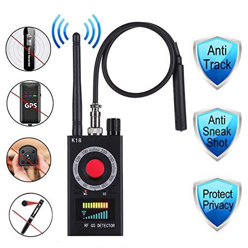 Anti Spy Detector, RF Detector & Camera Finder Anti-spy Hidden Camera Bug Sweeper GPS Audio Spy Scanner Radio Wireless Signal Electronic Tracker US Plug.