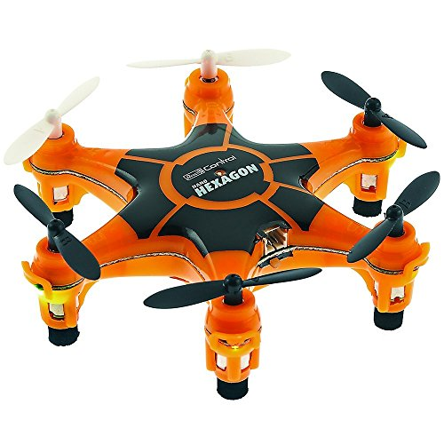 (Revell Germany Electric Powered 2.4GHz Radio Controlled Ready to Fly Nano Hexagon Drone (Orange))