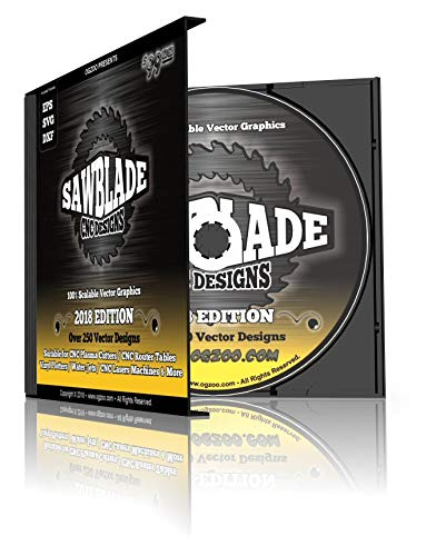 SawBlade CNC Designs - Over 250 Saw Blade Style Vector Graphics for Computer Controlled Machines / CNC Plasma Cutters, Router Tables, Laser, Water Jet & More