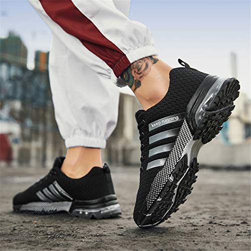 Homme Course Fitness Baskets Gym De Running Entrainement Chaussures 87noir Athlétique Bravover Sports Sneakers Uq50Sww4
