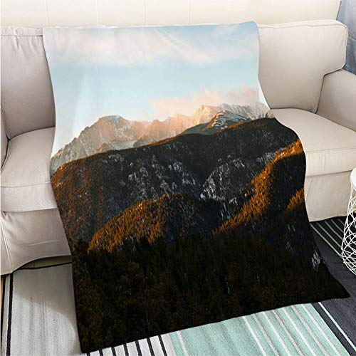 (BEICICI Custom homelife Abstract Home Decor Printing Blanket Storm Clouds on Pikes Peak Sofa Bed or Bed 3D Printing Cool Quilt)
