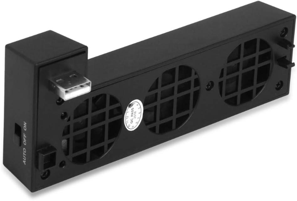 Vkospy USB Externo de Control de Temperatura 3-Ventilador Turbo Ventilador de refrigeración para Xbox One X Consola de Juegos Juego Ventilador Enfriador: Amazon.es: Electrónica