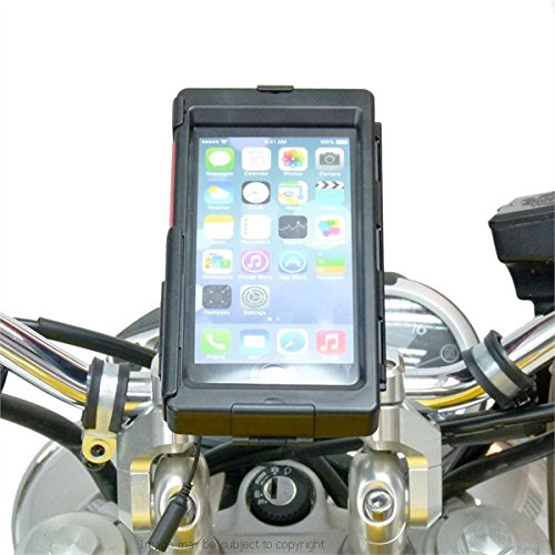 BuyBits Bike Bundle with TiGRA Case for iPhone 6 PLUS, High Powered DIN Charger & Motorcycle Mount