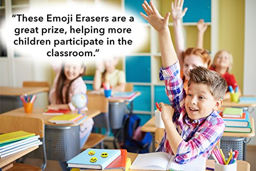 Emoji Pencil Erasers (60-Pack), Super Cute, Fun and Functional, Great as Gifts for Kids, Incentives, Prizes, Party Favors, Classroom Rewards and School Supplies - Erase Very Well, Child-Safe BPA Free Photo #5