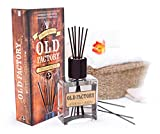 Old Factory Reed Diffuser Set - Fresh Linen - Essential Oil Aromatherapy Scent Bottle and 6 Clog-Resistant Fiber Reeds - Premium Scented Diffusers for Oils - 5oz