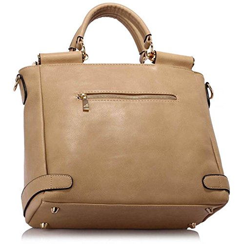 Handbags Grab Clearance Large Leather Tote Office Sale Top 237 Nude Flap Faux Twist LeahWard Meeting Satchels Size Handle Lock Business z7UwUpFq