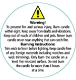 Candle Warning Labels - Small Round 35mm dia