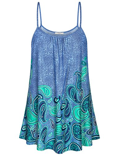 Cestyle Cami Tank Tops for Women,Petite Fit and Flare Aline Camisole Tees Feminine Modest Lightweight Knitted Going Out Shirts Novelty Spandex Emerald Green Tunic Top for Dating Night Jade Medium