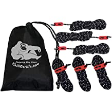CHILL GORILLA 4mm 78' REFLECTIVE TENT GUIDE ROPE GUY LINE CORD & Adjusters. Lightweight, Rain Tarps, Tents, Hiking, Backpacking. Essential Camping & Survival Gear. ENO Accessory