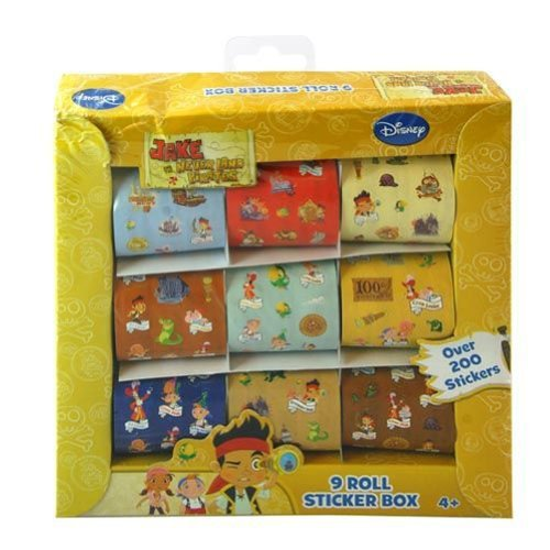 UPD Jake and Neverland Pirates 9 Roll Sticker Box with 200+ Stickers]()