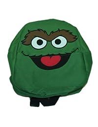 Sesame Street Oscar The Grouch Face Cartoon TV Show Mini Backpack