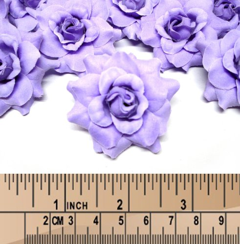 100 Silk Purple Roses Flower Head 1 75 Artificial Flowers