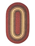 ITM Westerly Cranberry Braided Wool Rug, 2-Feet 3-Inch by 4-Feet
