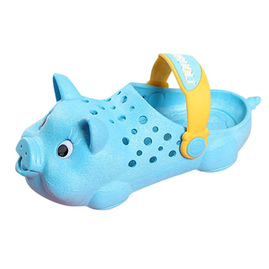 ZOMUSAR 2019 Toddler Infant Kids Baby Girls Boys Cute Pig Beach Shoes Sandal Outdoor Slippers Sky Blue