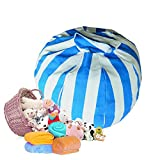 Stuffed Animal Storage Bean Bag Chair 8 petals (Blue)