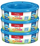 Playtex Diaper Genie Refill - 270 Count (Pack of 3)  The Playtex Diaper Genie Refill uses the revolutionary AIR-TITE odor-barrier system, a seven-layer barrier that provides the ultimate in odor protection. 7-layer plastic film keeps odor, germs and ...