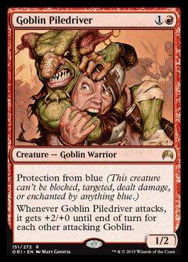 Magic: The Gathering - Goblin Piledriver (151/272) - Origins