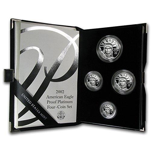 (1997 W - Present 4-Coin Proof Platinum Eagle Set (Random Year, w/Box & COA) Brilliant Uncirculated)