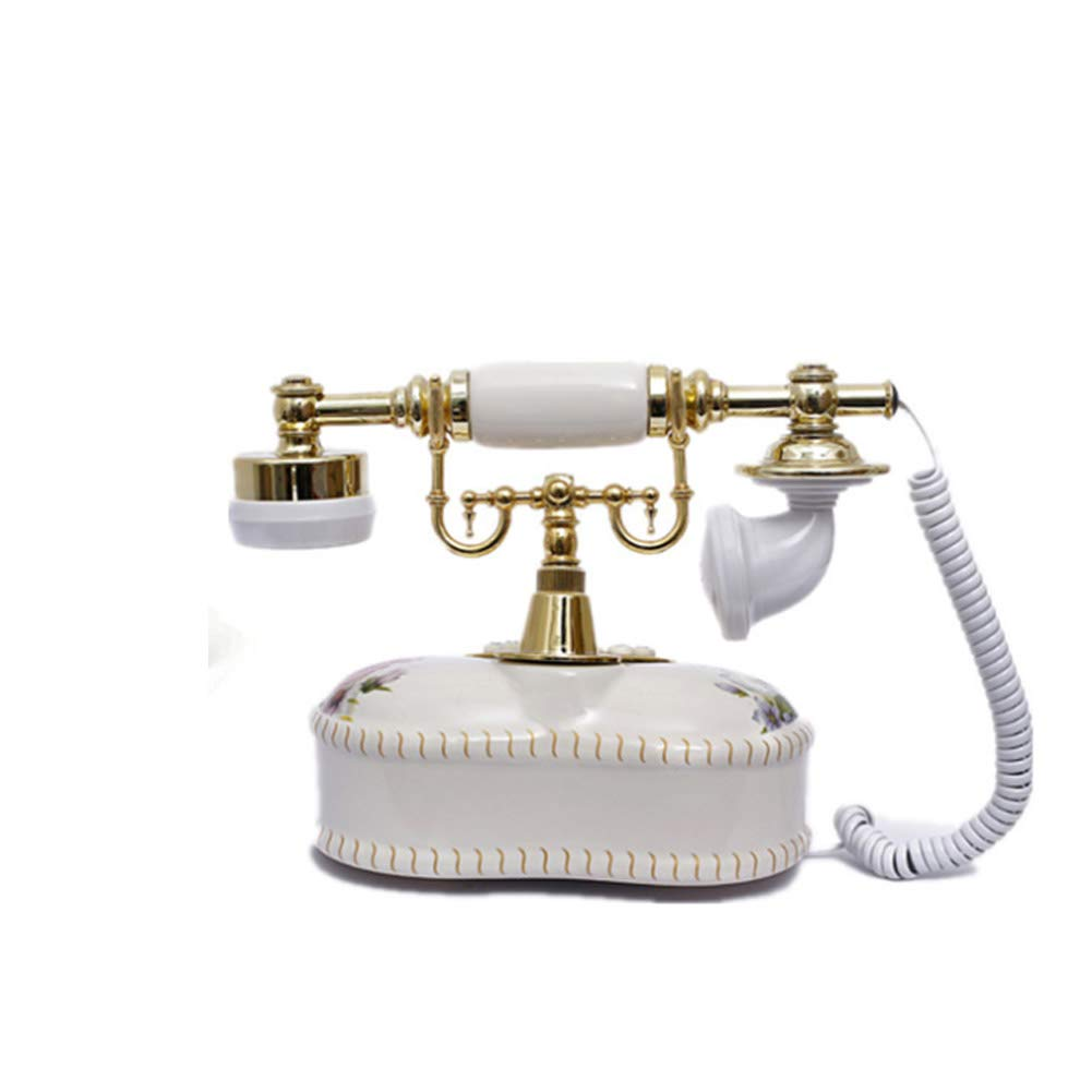 ZFLIN Fashion Creative Antique Telephone Caller ID Ceramic Korean Home Office by ZFLIN