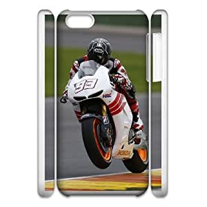 Back Skin Case Shell iphone5c 3D Cell Phone Case White Marc Marquez Gvwnr Pattern Hard Case Cover
