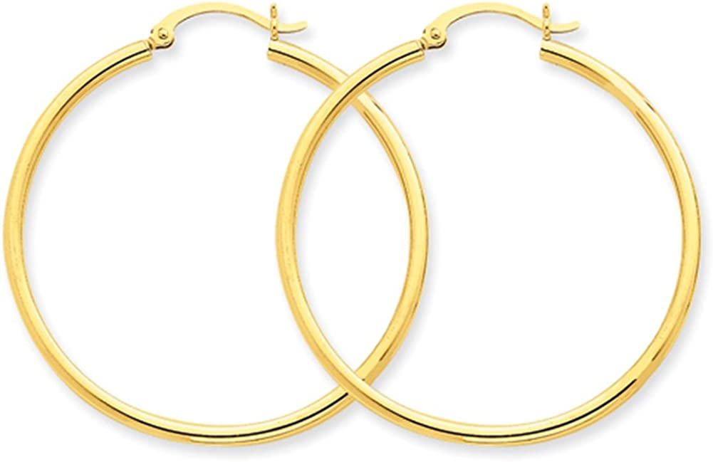 Lex /& Lu 14k Yellow Gold Lightweight Tube Hoop Earrings LAL81538