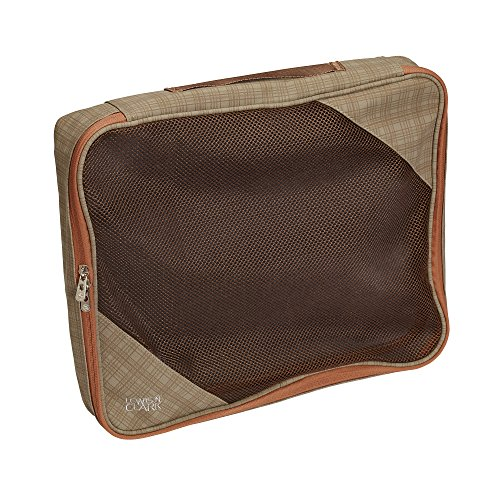Clarks Shoes Bags (Lewis N Clark Packing Cube, Large, Taupe/Pumpkin)