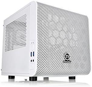 Thermaltake Core V1 Snow Edition CA-1B8-00S6WN-01 Mini-ITX Cube Case White No PS