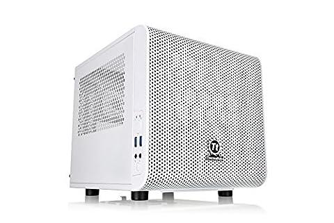 Thermaltake Core V1 Snow Edition SPCC Mini ITX Cube Computer Chassis CA-1B8-00S6WN-01 (Thermaltake Core V21)