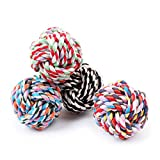 Agordo Pet Puppy Dogs Knots Strengthen Teeth Rope Cottons Chews Toy Ball for Fun LKM0